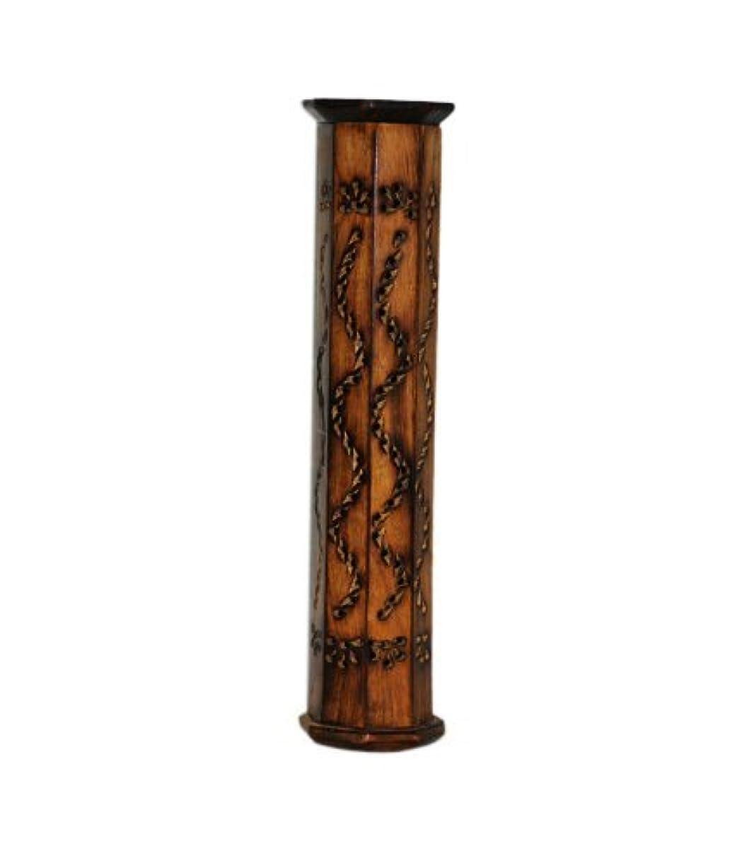 アシスト過去ラッシュPINDIA Incense Box Sticks Holder AGARBATI AGARBATTI DHOOP Doop Stand LOBAN Wood Tower