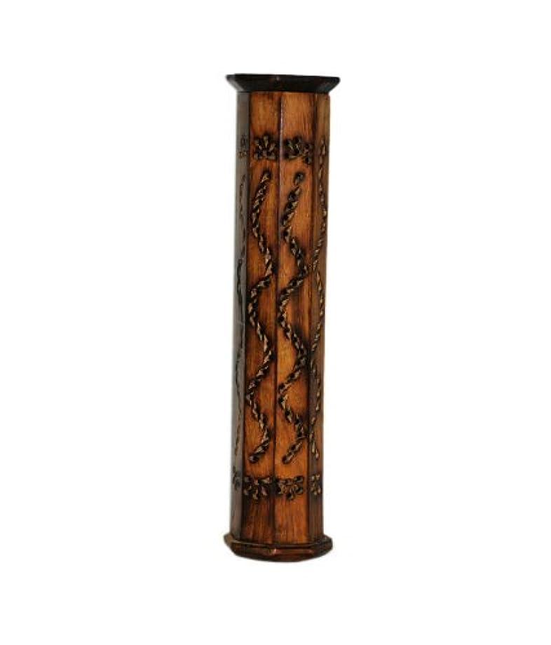 フェードアウト傾くスーダンPINDIA Incense Box Sticks Holder AGARBATI AGARBATTI DHOOP Doop Stand LOBAN Wood Tower