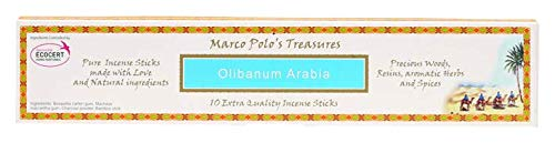 Marco Polo's Treasures Olibanum Arabia Incense Sticks, Olibanum Arabia, Pack of 10