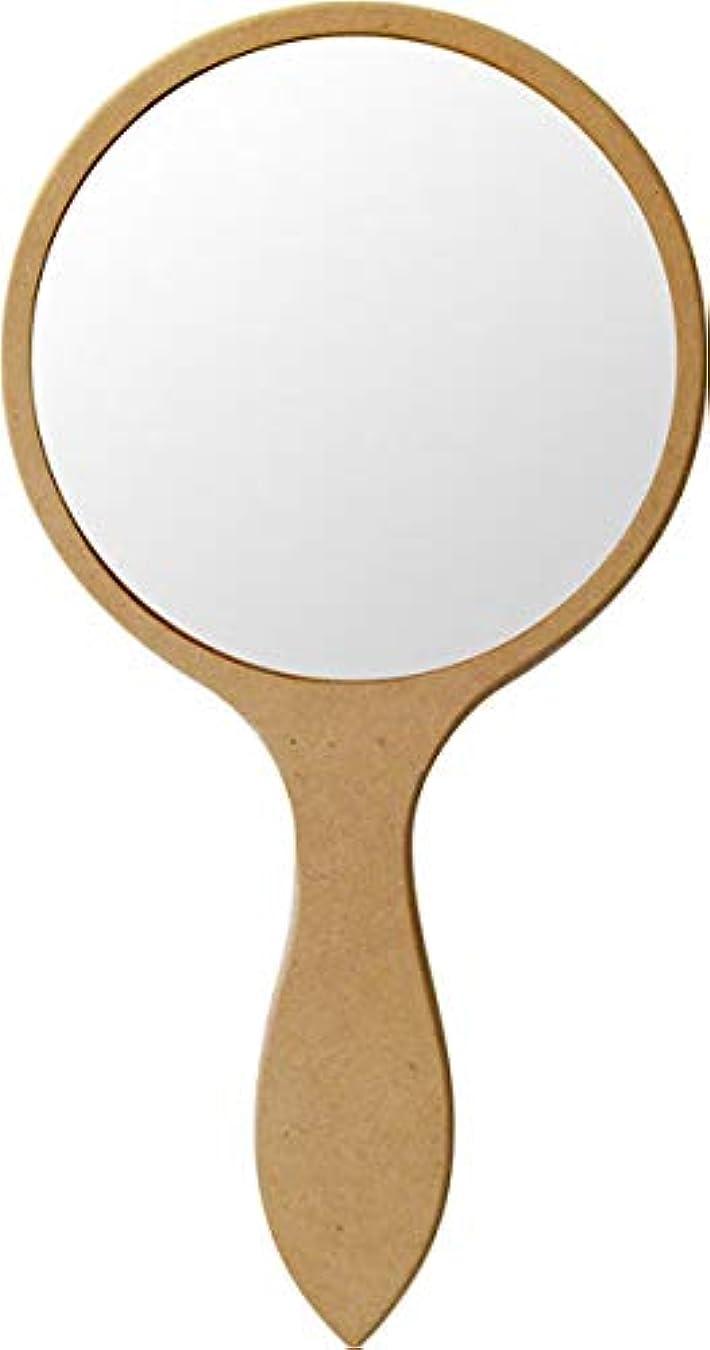 欠陥最愛のお手伝いさんセトコ無塗装白木素材 手鏡(丸型)543-8005