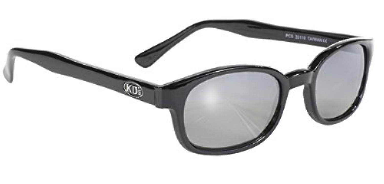 Pacific Coast Original KD's Biker Sunglasses (Black Frame/Silver Mirror Lens) 並行輸入