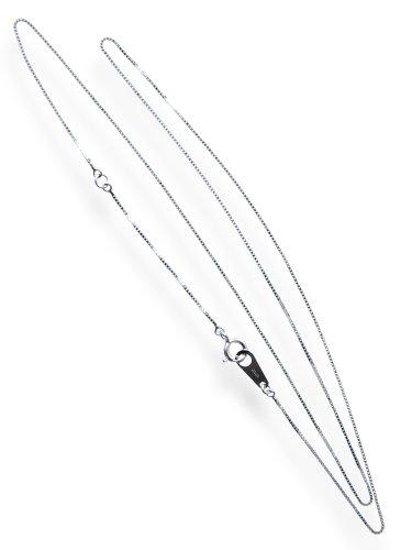 [해외]화이트 골드 체인 목걸이 베네 유형 40cm 펜던트 용 01104 선물 포장 요청/White gold chain necklace · Venetian type 40 cm for pendant 01104 gift wrapped
