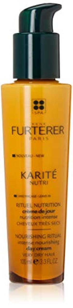 蒸気香ばしい悪いルネ フルトレール Karite Nutri Nourishing Ritual Intense Nourishing Day Cream (Very Dry Hair) 100ml/3.3oz並行輸入品