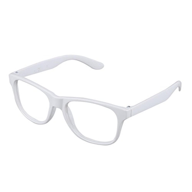 TOOGOO 女の子と男の子のスタイリッシュなパーティーアクセサリー 子供眼鏡フレーム レンズなし 白