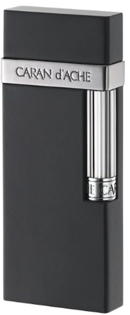 みなす神社愚かCARAN d'ACHE(カランダッシュ) ガスライター カランダッシュ30 フリント式 日本製 ガンメタル ブラックマット CD30-3002