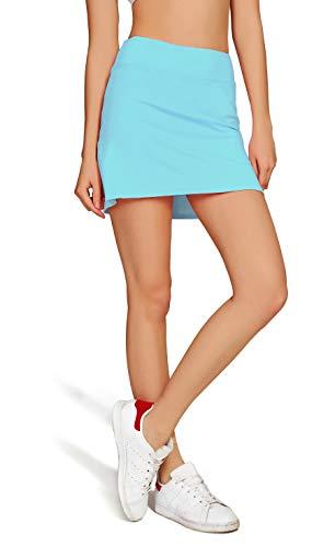 3092a3e63732a オナースポーツ HONOURSPORT レディース トレーニング テニス スカート インナースパッツ付 L_BU US-XL