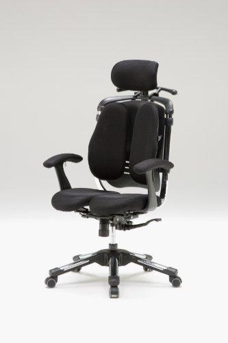Hara Chair ハラチェア ニーチェ≪回転肘モデル≫(ブラック)【ハンガー付】