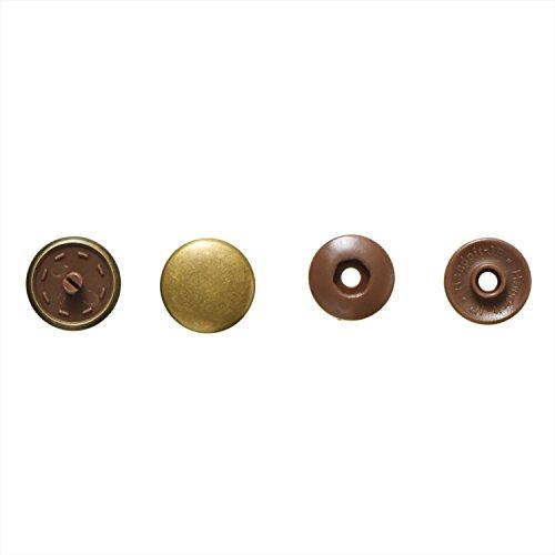 RoomClip商品情報 - KIYOHARA サンコッコー ワンタッチプラスナップメタル 3組入 14mm アンティックゴールド SUN17-39