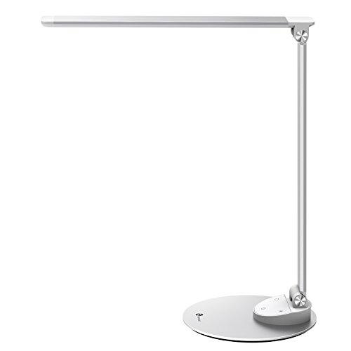 デスクライト TaoTronics LED 卓上ライト 目に優しいタッチセンサーで5段調光 5段色温調節 USB充電ポート付 135°調節可能 TT-DL19