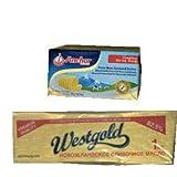NZ産 グラスフェッドバター 味比べセット(ウエストランド1kg vs フォンテラ454g)【無塩・冷凍】