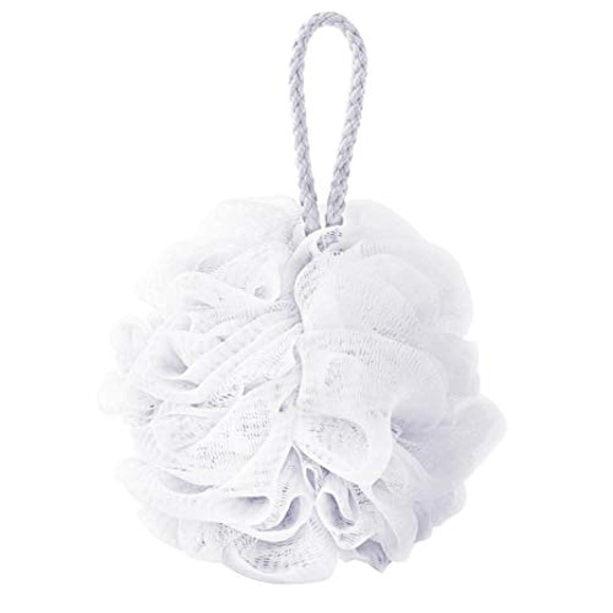 福祉表現ヒゲcomentrisyzソフトシャワー入浴ボールブラシ泡泡ネットボディスクラブ洗浄ツール - ホワイト
