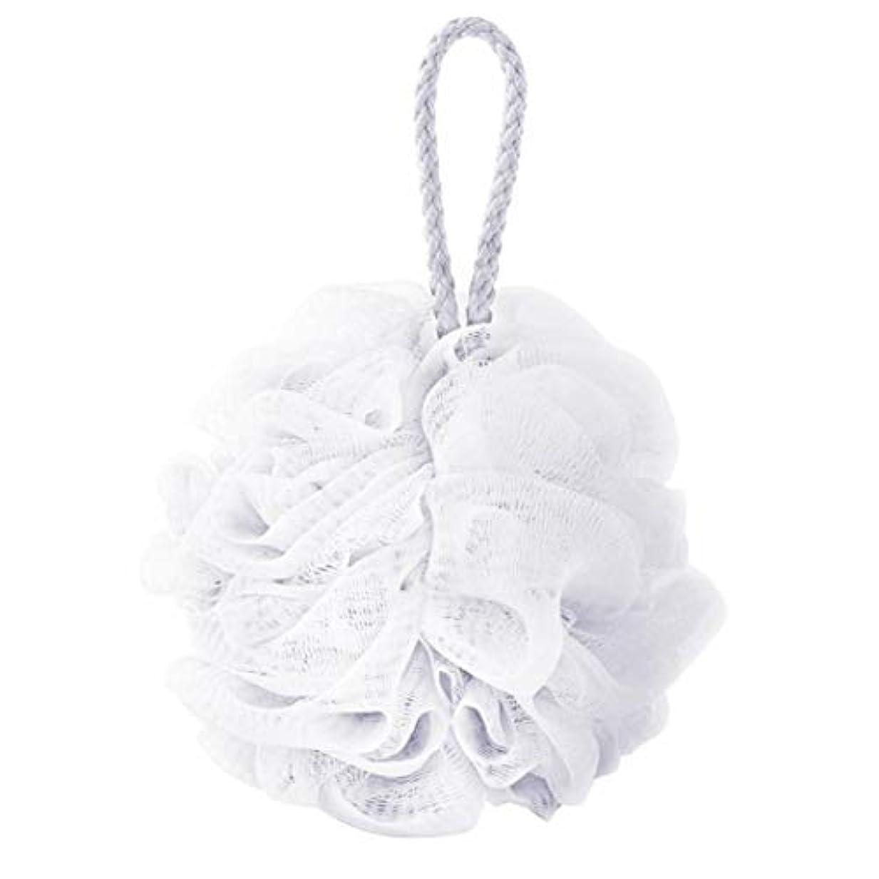 追放する意識特定のcomentrisyzソフトシャワー入浴ボールブラシ泡泡ネットボディスクラブ洗浄ツール - ホワイト