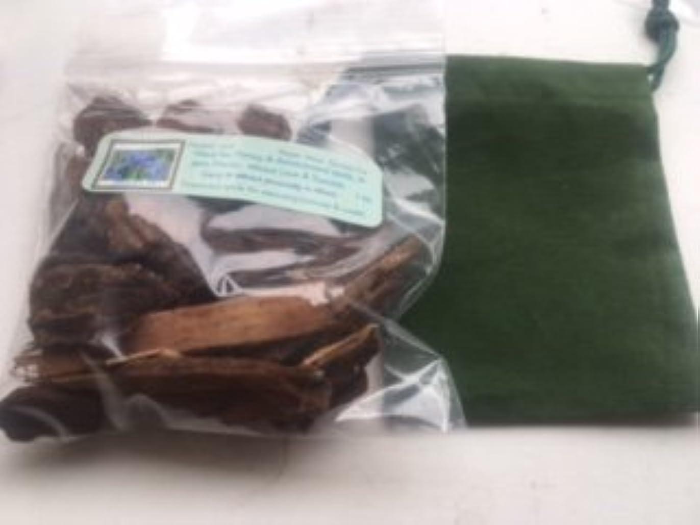 横たわる詳細な持ってるJezebelルート~ 1 oz Dried Herb ~ WithグリーンベルベットMojoバッグ~ Ravenz Roost Herb with special Info Onラベル