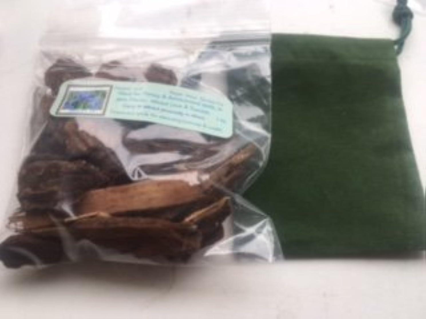 塊土失礼Jezebelルート~ 1 oz Dried Herb ~ WithグリーンベルベットMojoバッグ~ Ravenz Roost Herb with special Info Onラベル