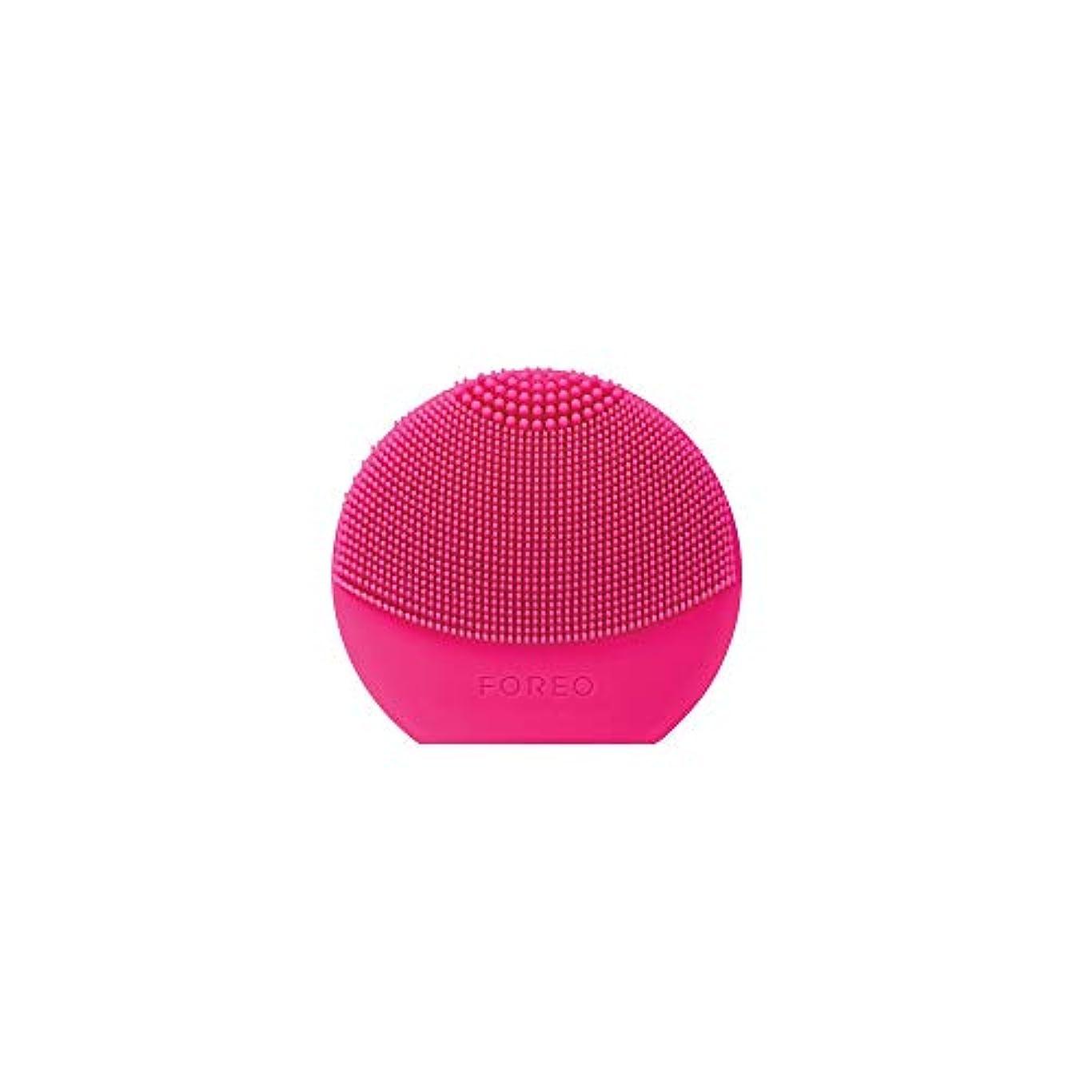 加入手錠乳剤FOREO LUNA play plus フクシア シリコーン製 音波振動 電動洗顔ブラシ 電池式