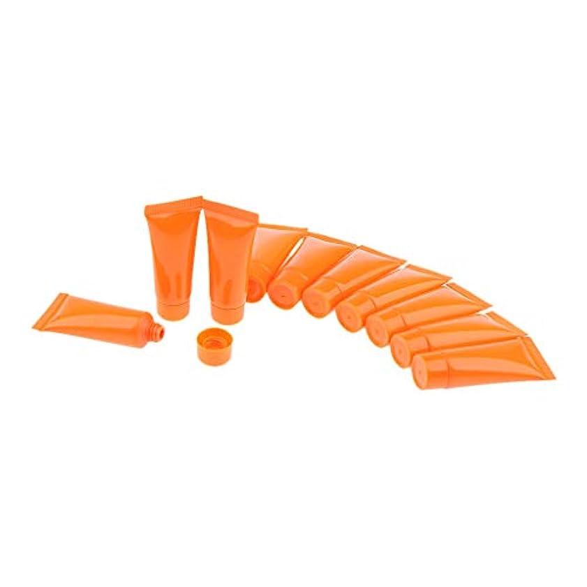 慰めイブニング警察DYNWAVE ソフトチューブ スクイズボトル 化粧品 スクイズチューブ 詰め替えボトル 小分け容器 3色選べ - オレンジ