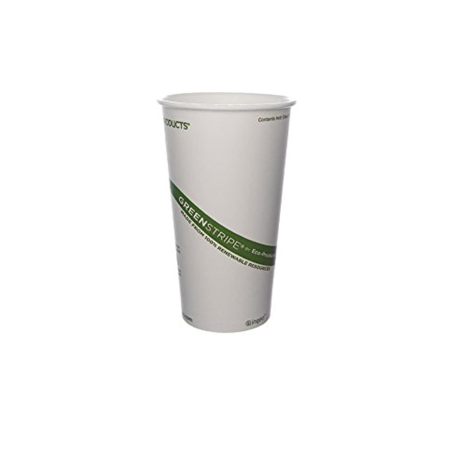 著名な時々時々キッチンEco-Products 20 oz GreenStripe Hot Cup - Case of 1000