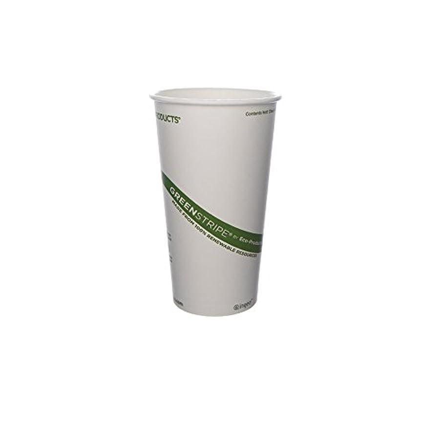 宿題をするボーカル販売員Eco-Products 20 oz GreenStripe Hot Cup - Case of 1000