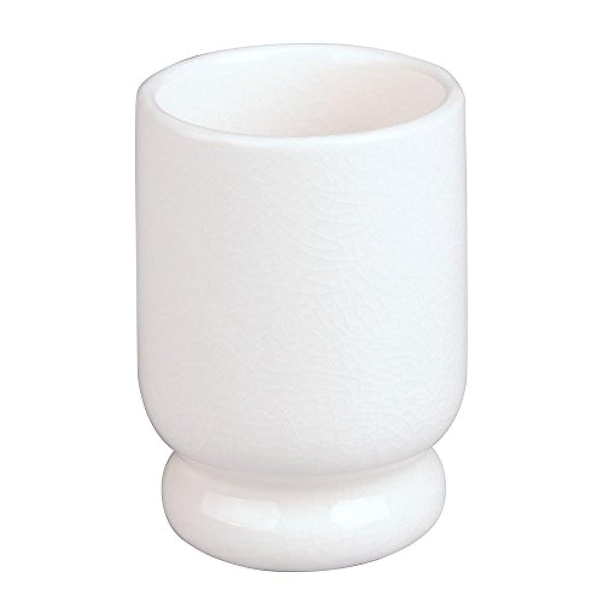 InterDesign Creme Tumbler, Crackle/Ceramic