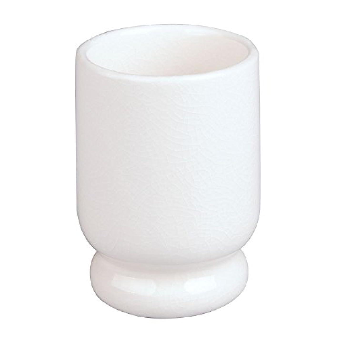 割り当てますエトナ山サドルInterDesign Creme Tumbler, Crackle/Ceramic