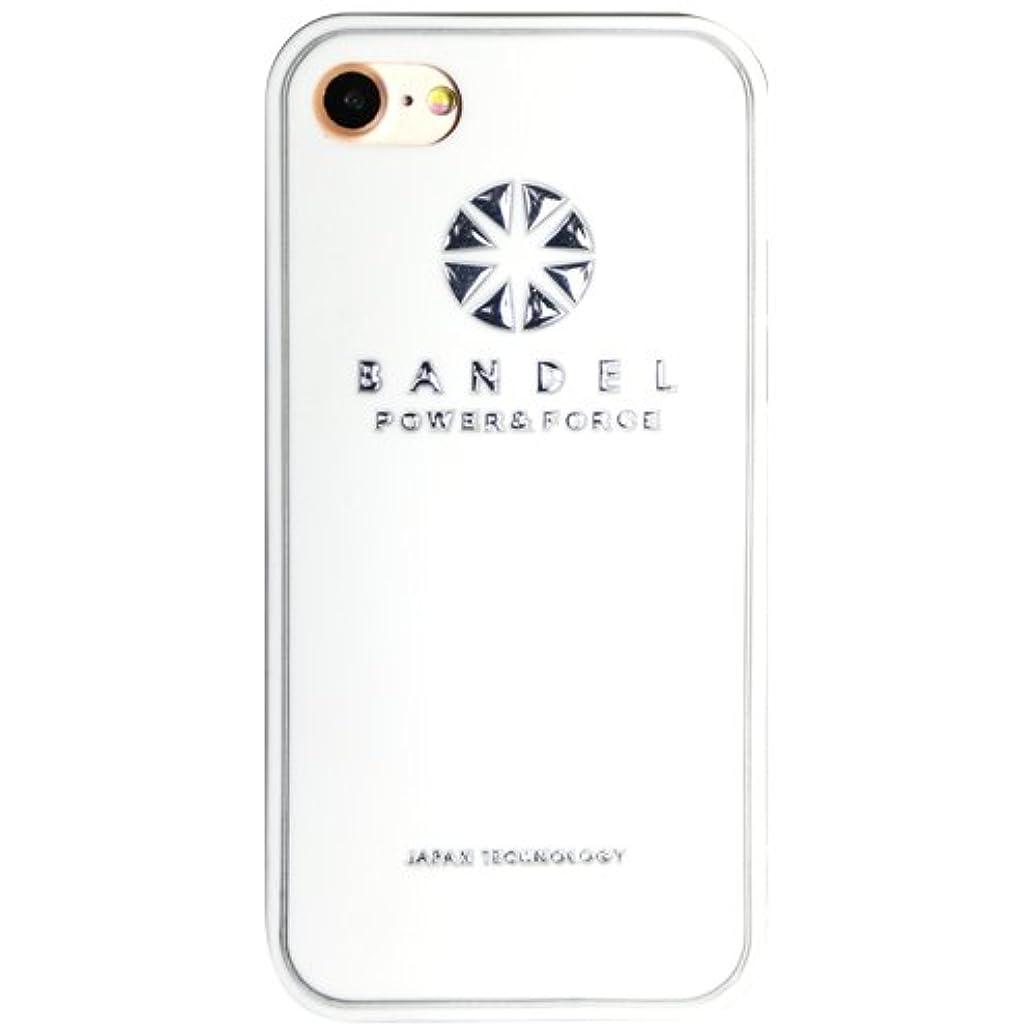 秋キャンドル叫ぶバンデル(BANDEL)iPhone7Plus ケース ロゴ[ホワイト×シルバー]/スマホケース iPhoneケース iPhone用