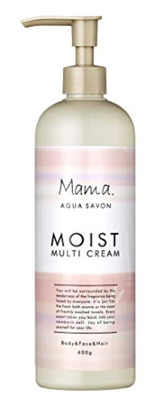突進休眠練るママアクアシャボン モイストマルチクリーム フラワーアロマウォーターの香り 18A 400g