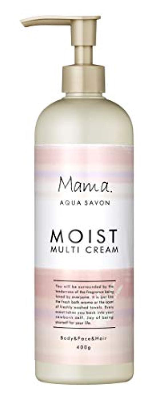 連邦抗生物質ゆるいママアクアシャボン モイストマルチクリーム フラワーアロマウォーターの香り 18A 400g