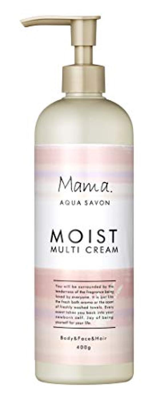 倍増タイプ難しいママアクアシャボン モイストマルチクリーム フラワーアロマウォーターの香り 18A 400g