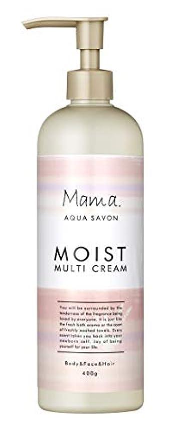 説明後方壊滅的なママアクアシャボン モイストマルチクリーム フラワーアロマウォーターの香り 18A 400g