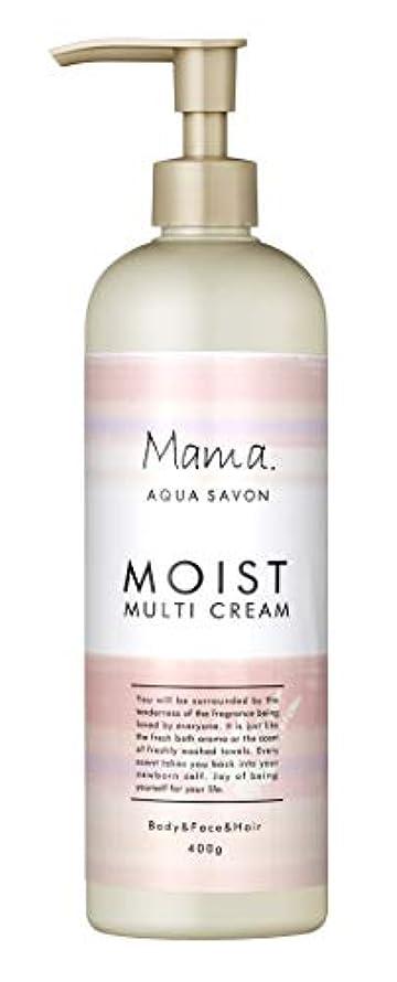 変更可能きれいに信条ママアクアシャボン モイストマルチクリーム フラワーアロマウォーターの香り 18A 400g