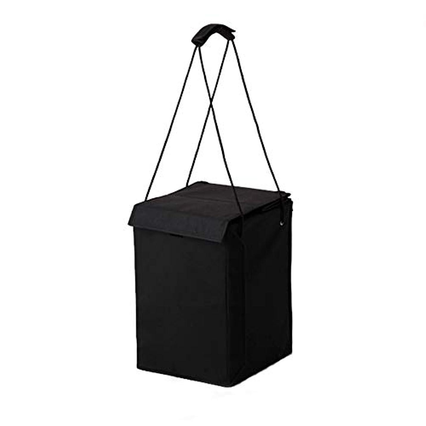 どこにも論文行方不明ウィッグインバッグ コスプレ グッズ 黒 ブラック 折りたたみ 持ち運び