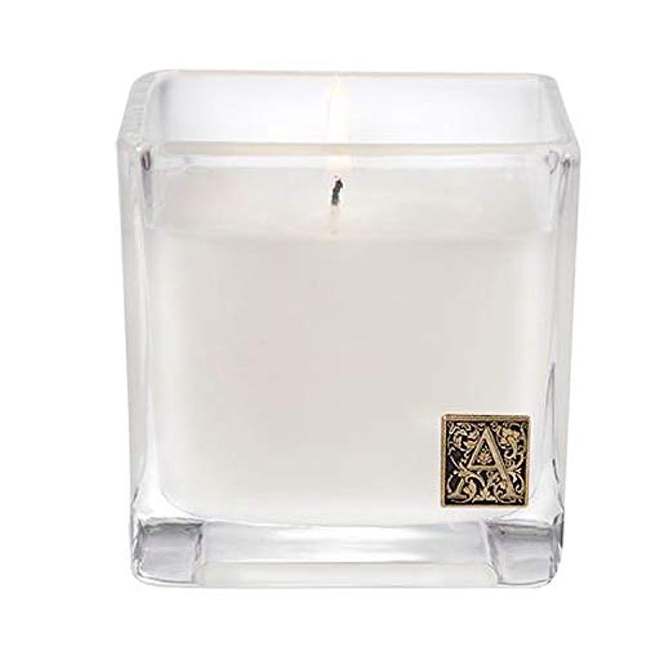 ラジエーター資格情報磁器Aromatiqueホワイトチーク材and Moss 12 ozキューブCandle