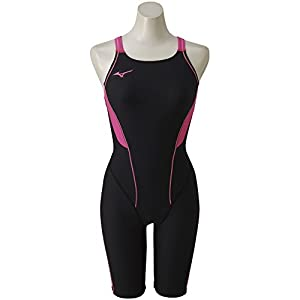 MIZUNO(ミズノ) 競泳水着 トレーニング用 レディース エクサースーツ ハーフスーツ N2MG8278 カラー&サイズ 97:ブラック×ローズ