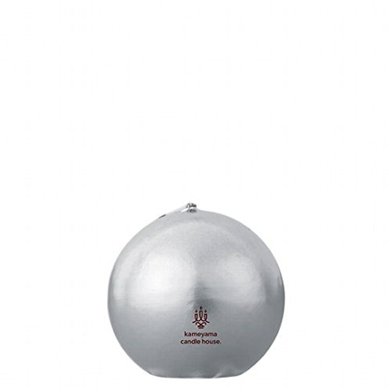 青初期の土器カメヤマキャンドル(kameyama candle) メタリックボール60 「 シルバー 」