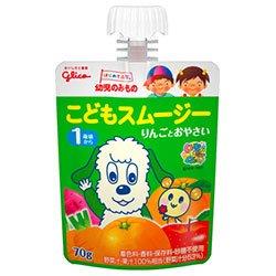 グリコ乳業 幼児のみもの こどもスムージー りんごとおやさい 70gパウチ×6本入×(2ケース)