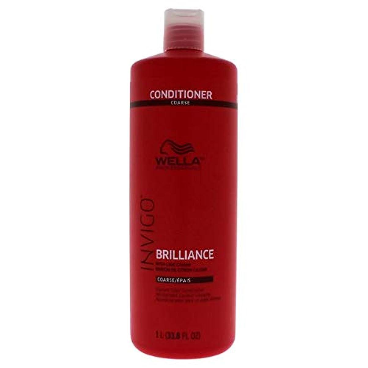 サイバースペース教えるパーツWella INVIGO Brilliance Conditioner for Course Hair - 33.8oz LITER 141[並行輸入]