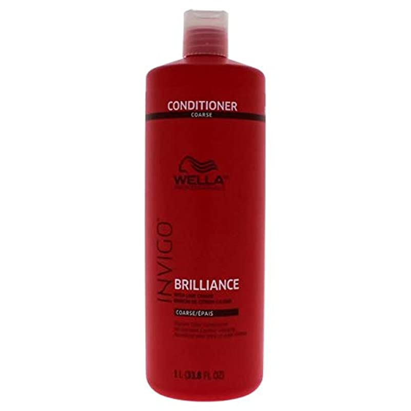 洋服サンダーくそーWella INVIGO Brilliance Conditioner for Course Hair - 33.8oz LITER 141[並行輸入]
