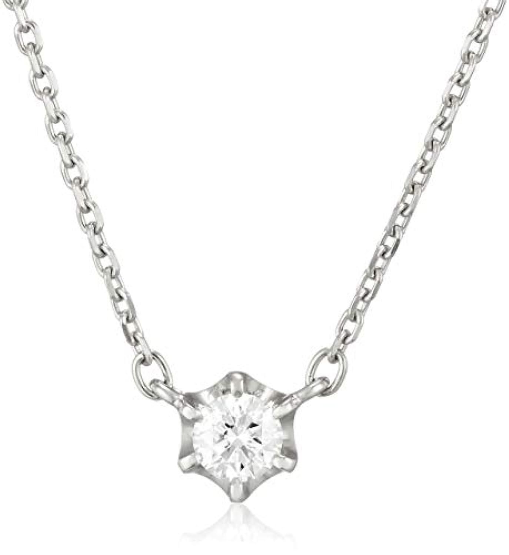 4℃(ヨンドシー) 0.1ctダイヤモンド プラチナネックレス 111033125001