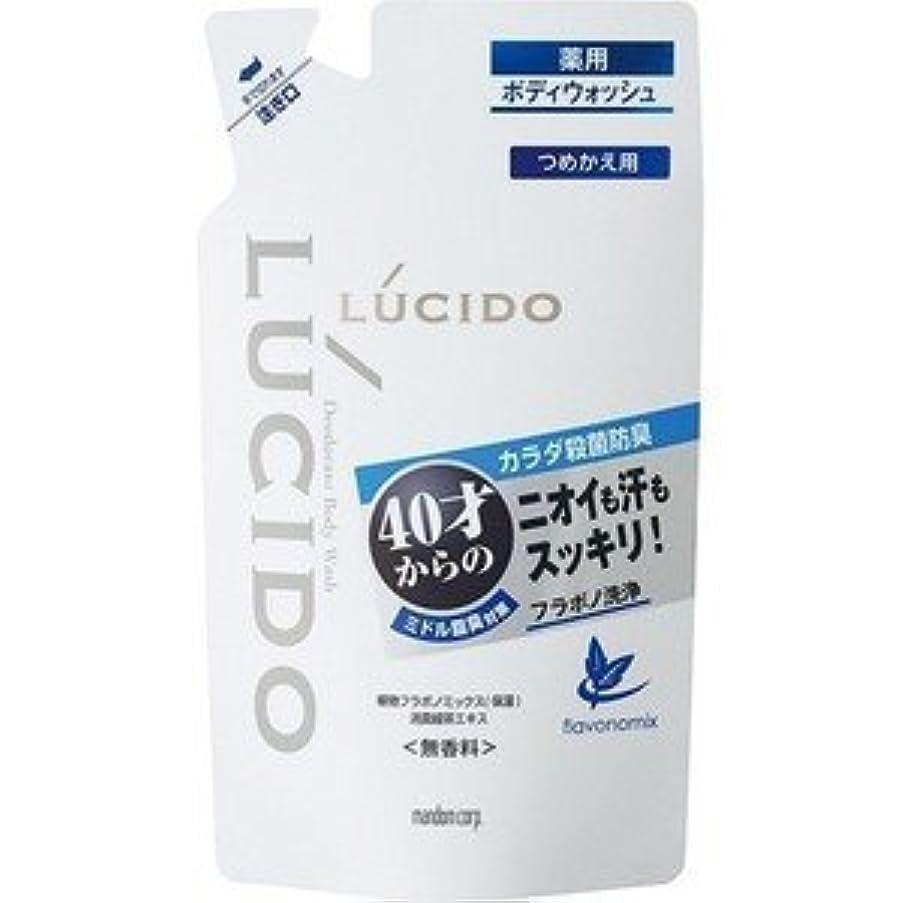 頬骨タクシーストレスの多い【LUCIDO】ルシード 薬用デオドラントボディウォッシュ つめかえ用 380ml(医薬部外品)
