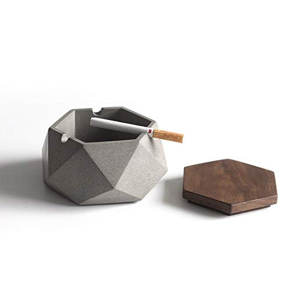 締め切りうまくやる()発動機タバコのための大きい防風灰皿パティオのための屋外の灰皿家/オフィスのための美しい卓上の煙の灰皿