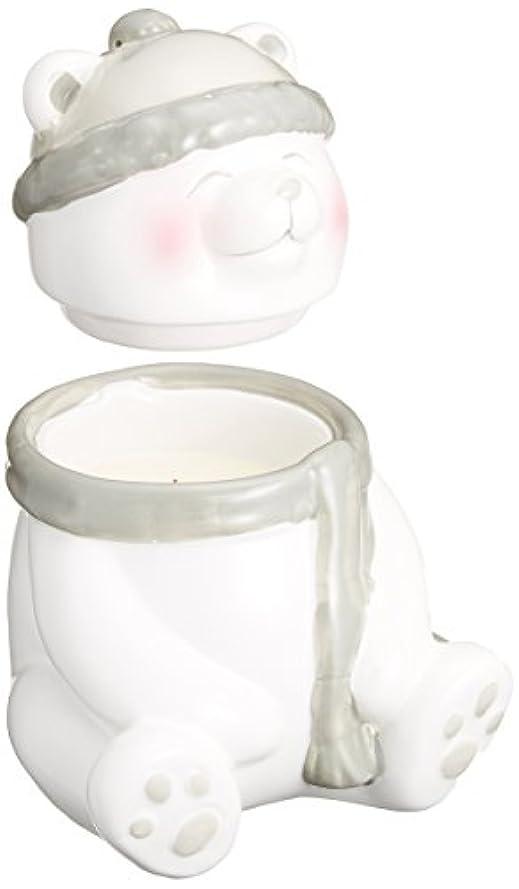 雪だるまを作る膜加速するWood Wick ジョリーフレンドポット 「 ベア 」 W924050406