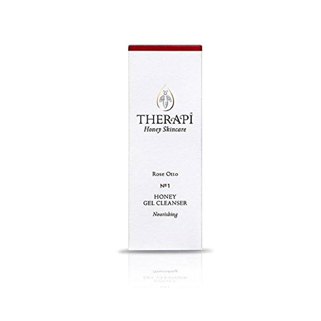 カエルスロープ小間蜂蜜ゲルクレンザーの100ミリリットルをオットーローズ (Therapi) (x 4) - Therapi Rose Otto Honey Gel Cleanser 100ml (Pack of 4) [並行輸入品]