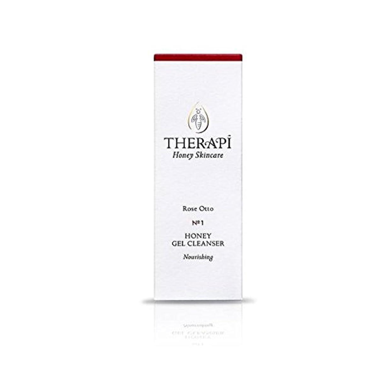 あそこツインエクスタシー蜂蜜ゲルクレンザーの100ミリリットルをオットーローズ (Therapi) (x 4) - Therapi Rose Otto Honey Gel Cleanser 100ml (Pack of 4) [並行輸入品]