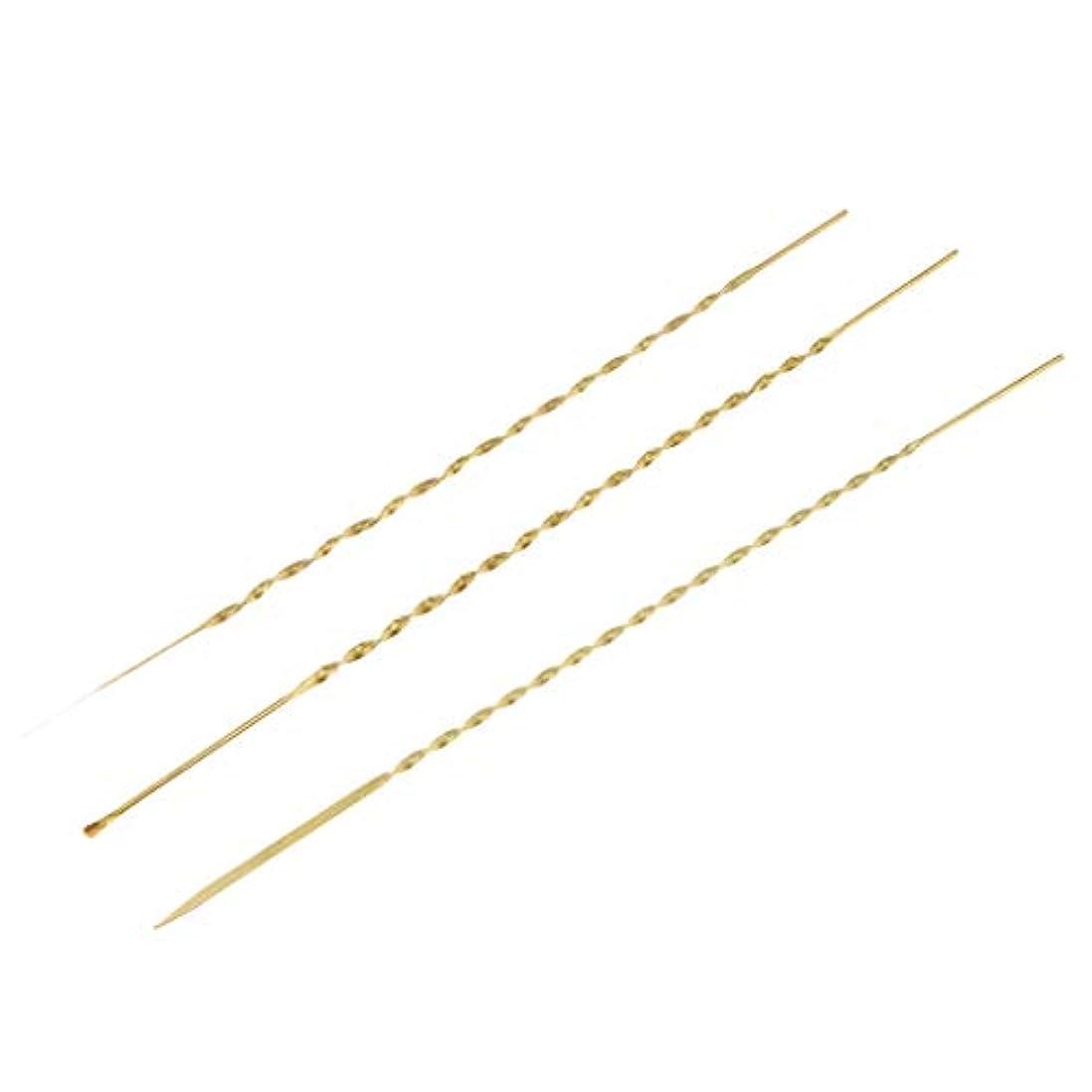 うれしい比率仮装3本 耳ピック 耳かき 耳ワックスリムーバー 高品質 金属製 3サイズ選べ - 17cm