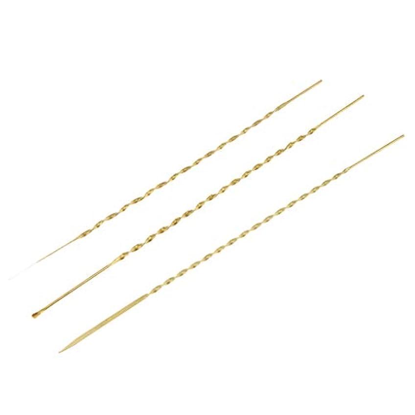 行商人祈りコンサルタント3本 耳ピック 耳かき 耳ワックスリムーバー 高品質 金属製 3サイズ選べ - 17cm