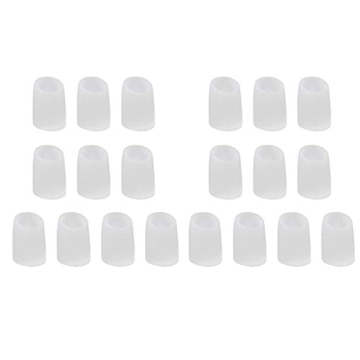 信仰余韻略奪足指保護キャップ つま先プロテクター つま先 キャップ シリカゲル 柔軟性 洗える 20個 全2サイズ - L