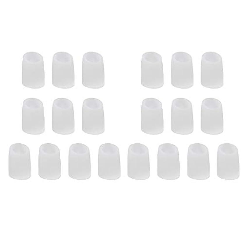 かまど聞きますキリン足指保護キャップ つま先プロテクター つま先 キャップ シリカゲル 柔軟性 洗える 20個 全2サイズ - L