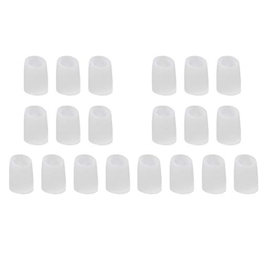 看板広げる持参足指保護キャップ つま先プロテクター つま先 キャップ シリカゲル 柔軟性 洗える 20個 全2サイズ - L