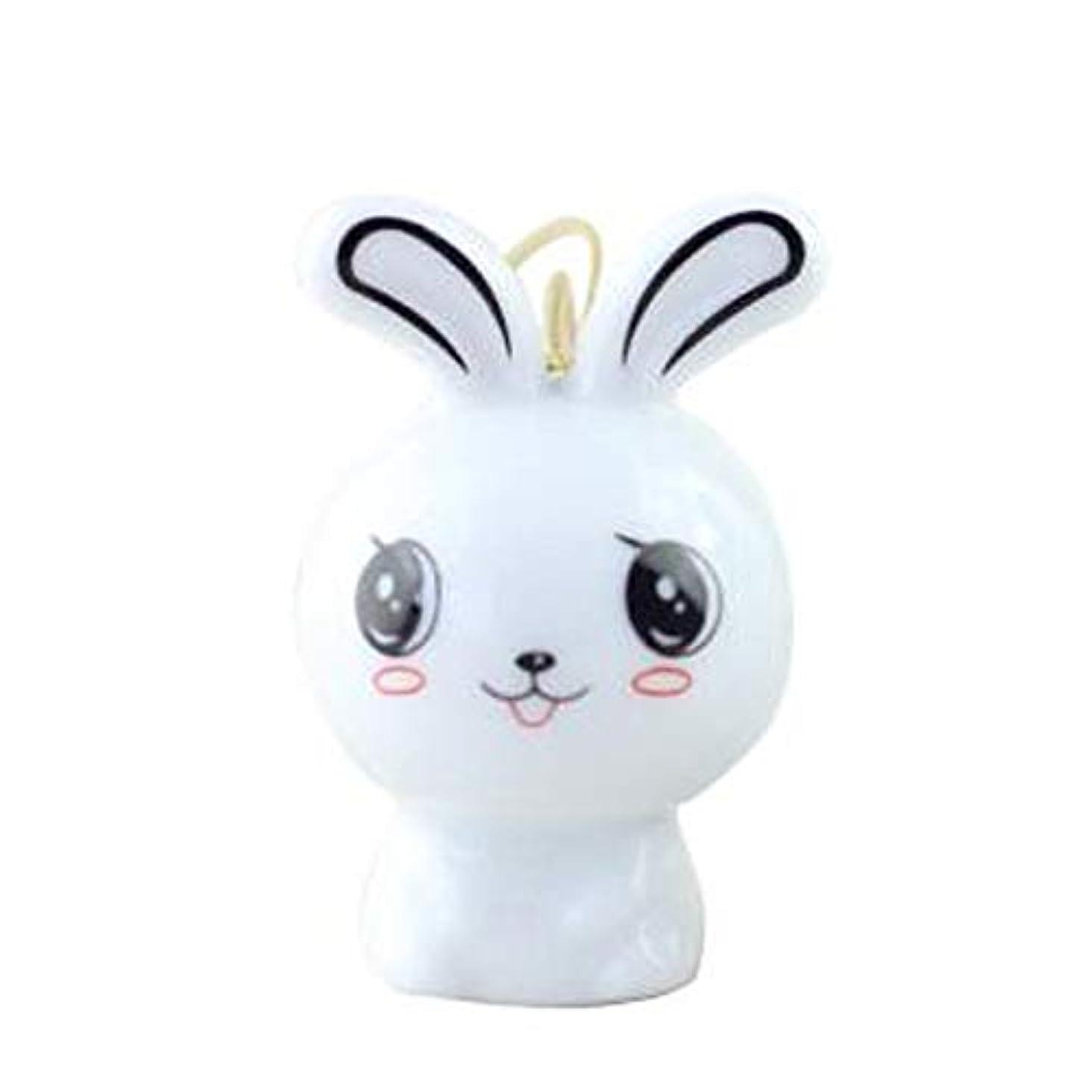 満足アルカトラズ島爆風Qiyuezhuangshi 風チャイム、クリエイティブ?セラミックウサギ風チャイム、白、6CMについて全身,美しいホリデーギフト (Color : White)