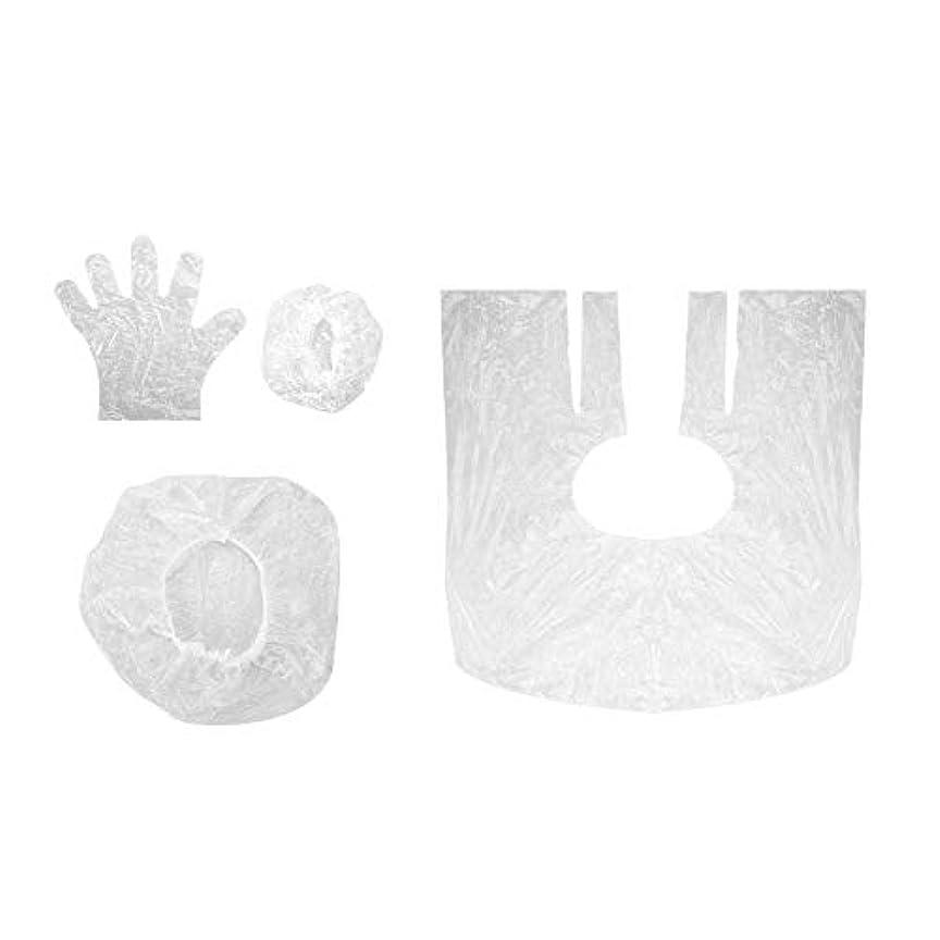 調べるタブレット繕う使い捨てキャプ okuguy ヘアキャプ 手袋 イヤーカバー ヘアダイシールド 10セット 髪染めツール ヘアダイツール
